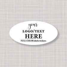 "2"" x 1"" Oval Custom Logo Labels Stickers"