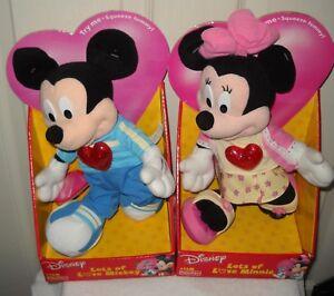 #10003 NIB Fisher Price Disney Kmart Stores Lots of Love Mickey & Minnie Plush