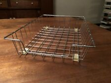 Vintage Retro Industrial Wire Metal Desk Paper Tray Organizer Basket Inbox