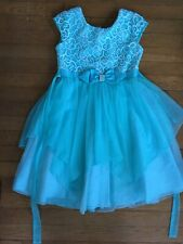 * Jona Michelle blue tulle Fancy Party Holiday Dress Sizes 8 girl