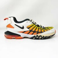 Nike Mens Air Max 120 819857-100 White Orange Running Shoes Lace Up Size 11.5