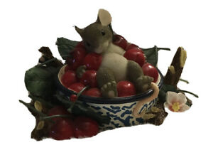 """Fitz And Floyd Charming Tails """" Life Is A Bowl Full Of Cherries """" 89/135"""