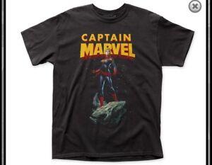 Marvel Comics Captain Marvel Asteroid Tshirt Size Large L New Black