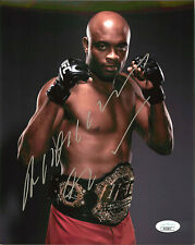 Anderson Silva Signed UFC Middleweight Championship Belt 8x10 Photo JSA A