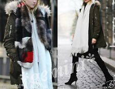 ZARA oversize VESTE Manteau Parka Jacket Coat Large Faux Fur Hood Size S M 38 40
