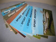 Sport Aviation Magazine lot of 8 From 71' - 73'