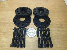 4x 15mm VW 5x112 or 5X100 Hubcentric Wheel Spacers,57.1 bore, 20 Rad Bolts BLACK