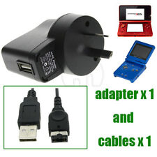 AU Battery Wall AC Charger+USB Cable for Nintendo DS NDS Gameboy Advance GBA