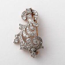 Antique Edwardian Diamond/Platinum/Gold Brooch