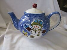 Studio Nova teapot with lid Frosty Snowman KT405 blue Christmas