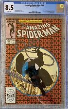 Amazing Spideman 300 CGC 8.5 1st Full  Appearance Of Venom White pages McFarlane