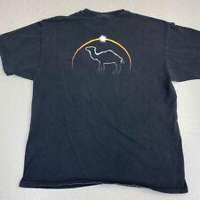 Vintage Camel Cigarettes Logo T-Shirt Mens XL Black Crew Neck Shirt