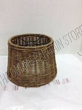1 Pottery Barn Adjustable Arc Sconce Light Lamp Linen Replacement SHADE Wicker