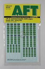 Archer 1/35 UK & Commonwealth AoS Signs (Summer 1943 - Spring 1945) AR77033