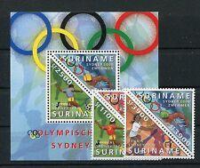 Suriname 1741/44 Block 80 postfrisch / Olympiade .........................1/1517