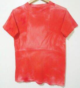 S Vtg 90s Red Sun Faded Blank Distressed Single Stitch Surf Skate Grunge T-Shirt