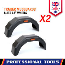 "2 x Trailer Mud Guard Black Plastic For 13"" WHEELS Boat Car ATV Caravan Black"