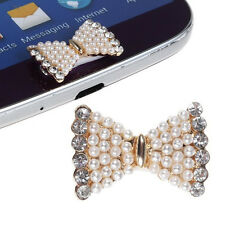 Home Button Sticker Bow Shape Handmaded Pearl for Galaxy S3 S4 S5 Note 2 BT