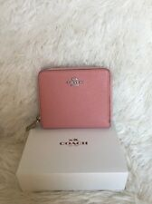 NEW Coach Crossgrain Medium Continental Zip Around Wallet PINK 52766 ($165)