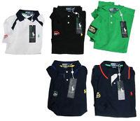Ralph Lauren Mens US Open Custom Fit Short Sleeve Pony Logo Polo Tennis Shirt