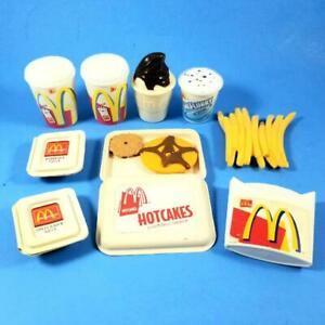 Vtg McDonalds Play Food Lot CDI 2001 French Fries Hotcakes Sauce McFlurry Sundae