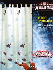 Tenda Finita Velo Spiderman Uomo Ragno Azzurro Tende Cameretta Caleffi Disney