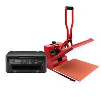 Heat Press Machine T-Shirt Printing Sublimation Vinyl Transfer + Printer Package