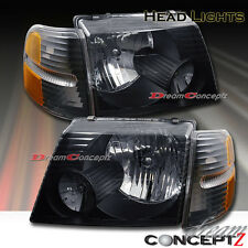 Black Style Headlights + Corners for 02-05 Ford Explorer 4 Door SUV 4 Pcs Combo
