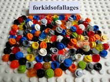 150 Piece Bulk Lego Lot 1x1 Dot Round Plates Caps Lights Lime Black Trans Red+