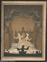 Programme Theatre Opera Comic Cute Galli-Marie Streamer Stone Brissaud 1927