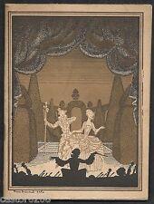 PROGRAMME THEATRE OPERA COMIQUE MIGNON Galli-Marié Couv Pierre BRISSAUD 1927