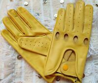 MEN'S CHAUFFEUR REAL LAMBSKIN  NAPPA LEATHER CAR DRIVING GLOVES NEW