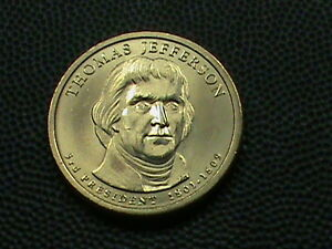 UNITED STATES 1 Dollar 2007 D UNC JEFFERSON COMBINED