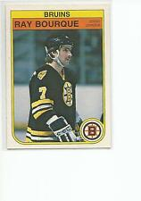 RAY BOURQUE 1982-83 OPC O-Pee-Chee Hockey card #7 Boston Bruins NR MT