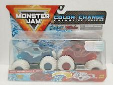 Megalodon & Octonder (2020) Color Change Spin Master Monster Jam 1:64 Trucks New