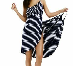 Women Wearable Bath Soft Microfiber Towel Robe Fast Dry Bathrobe Spa Wrap Dress