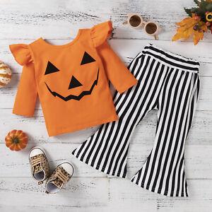 NEW Halloween Jack-o-Lantern Pumpkin Girls Outfit Set 2T 3T 4T 5T