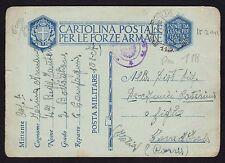 POSTA MILITARE 1941 Franchigia da PM 118 per Torre d'Isola (FM0)