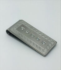 Stainless Steel Money clip with frame in its Design accompanied by Crystals