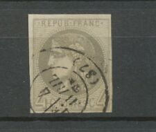 Timbre BORDEAUX 4c. Gris foncé obl. C.17 nuance rare, Superbe X1104