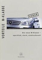 1129MB Mercedes M-Klasse Vorteile Vorab Prospekt 2004 12/04 deutsch brochure