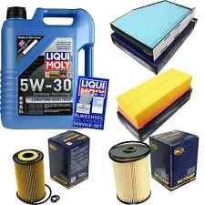 Inspection Kit Filter Liqui Moly Oil 5L 5W-30 For VW Golf VI 5K1 1.6 Tdi 2.0