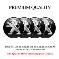 Print 4 x 56 mm Aufkleber Emblem Peugeot Wheels Silikon Felgen Nabenkappen