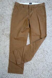 "[[ Mens pants 32 x 32 J. CREW Broken In straight chinos 770 brown (29"" inseam)"