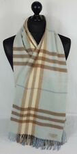 BURBERRY sciarpa 100% CASHMERE per Uomo e Donna Made in Scotland #A568