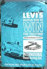 Levi's Promotional Give Away Poster For Strombecker International Road Racing