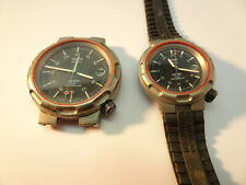 VINTAGE TITANIUM TIMEX QUARTZ HIS AND HER MILITARY WATCHES RUNNING TO RESTORE