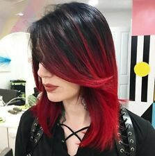 Natural Red wine gradient Ombre Short Hair Wigs Short Women's Fashion Wig