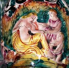 ART DECO  VASE EWER MAJOLICA CHERUBS ITALY PORCELAIN CAPODIMONTE ERA