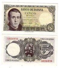 ESPAÑA 5 Pesetas 16 Agosto 1951 BALMES sin serie y PLANCHA